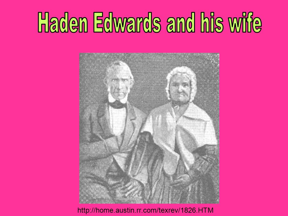Haden Edwards and his wife