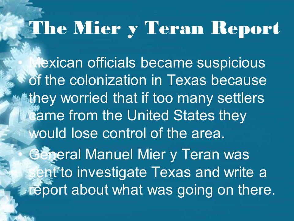 The Mier y Teran Report