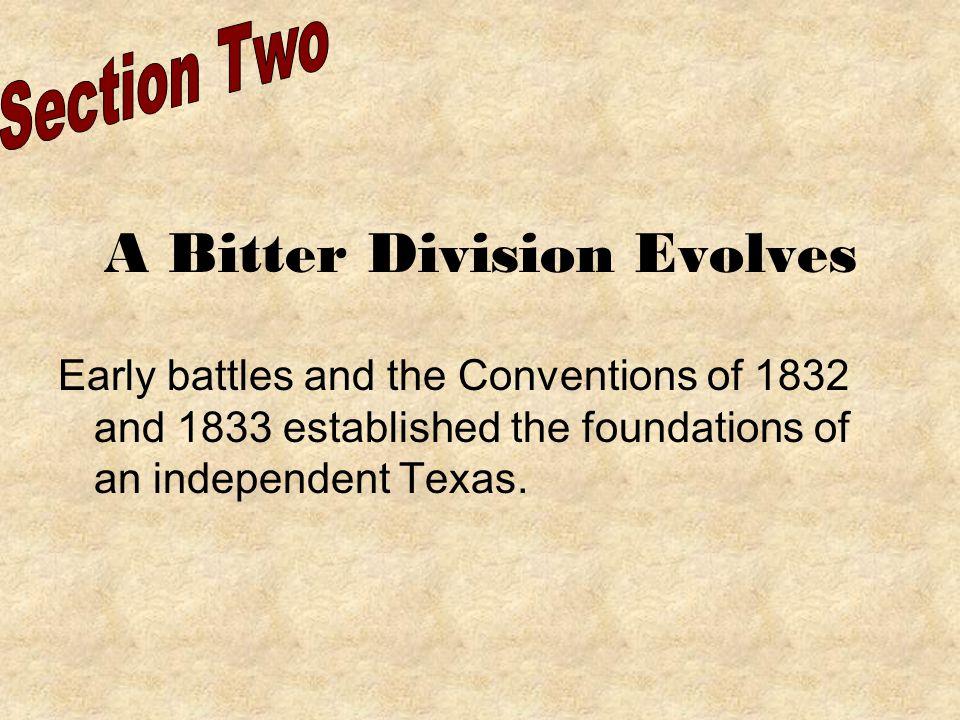 A Bitter Division Evolves