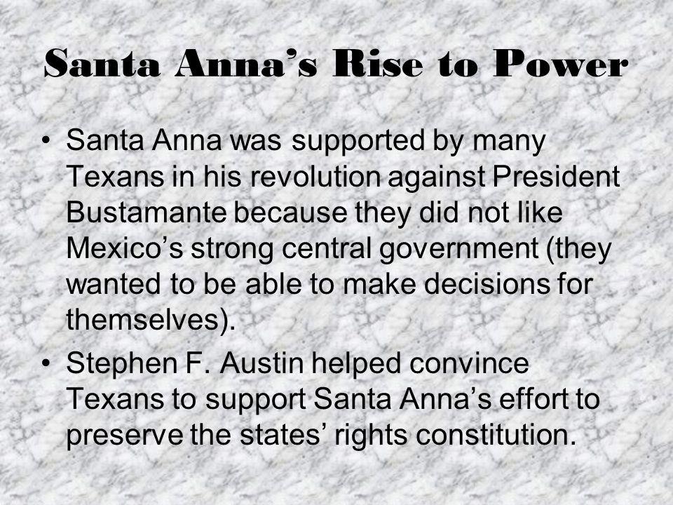 Santa Anna's Rise to Power