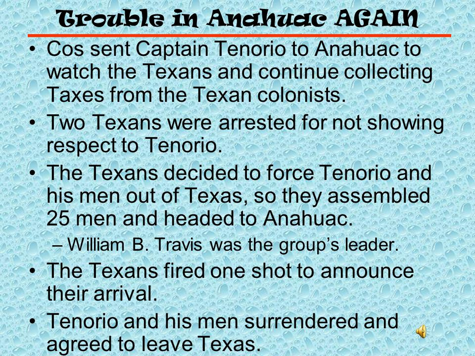 Trouble in Anahuac AGAIN