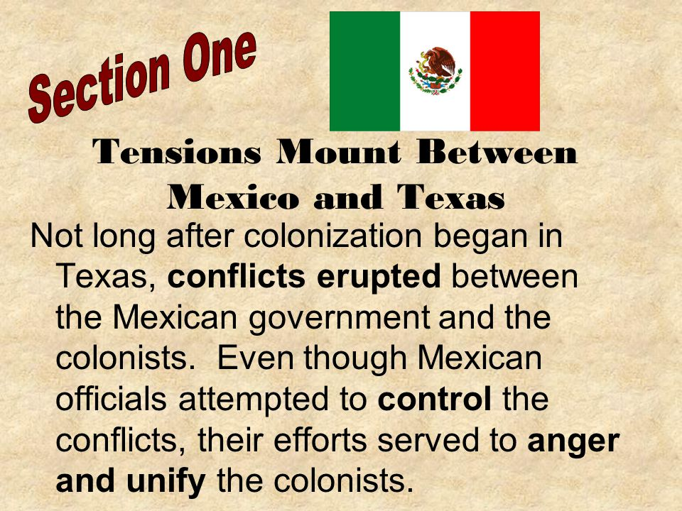 Tensions Mount Between Mexico and Texas