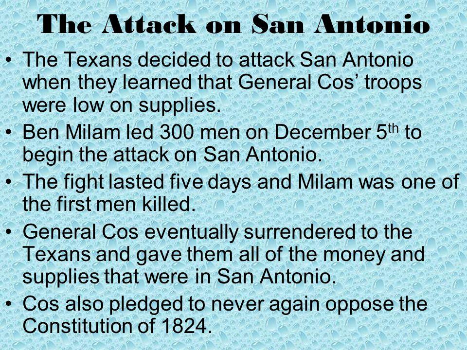 The Attack on San Antonio