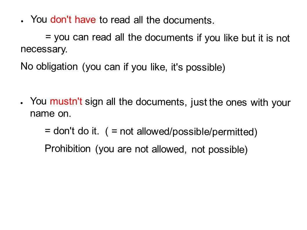You don t have to read all the documents.