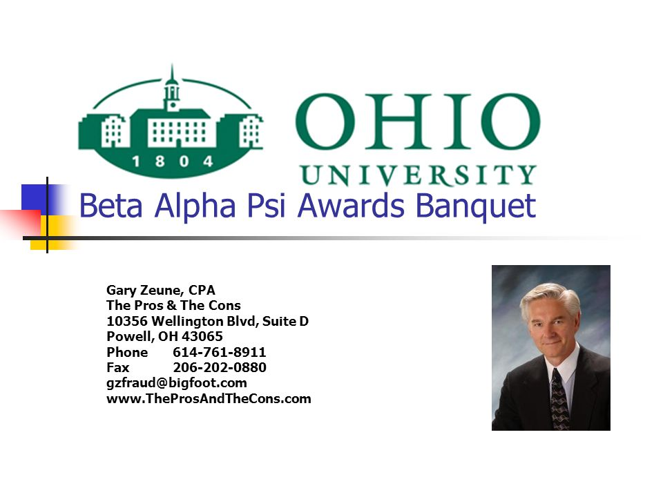 Ohio University Beta Alpha Psi Awards Banquet