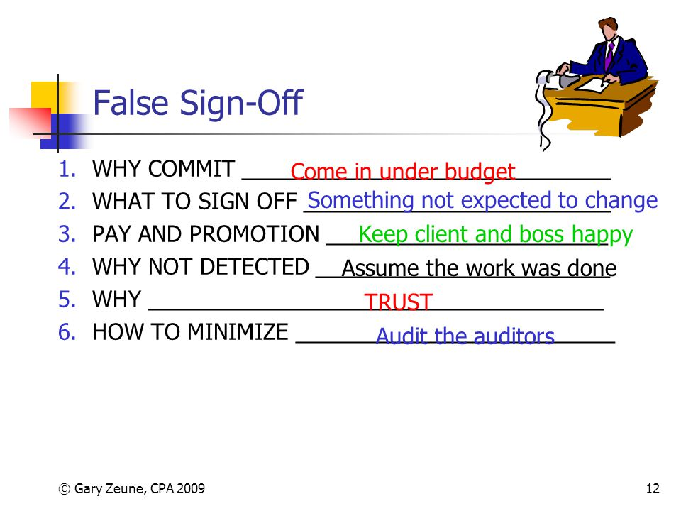 False Sign-Off WHY COMMIT ______________________________