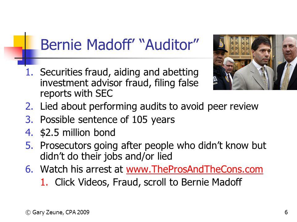 Bernie Madoff' Auditor