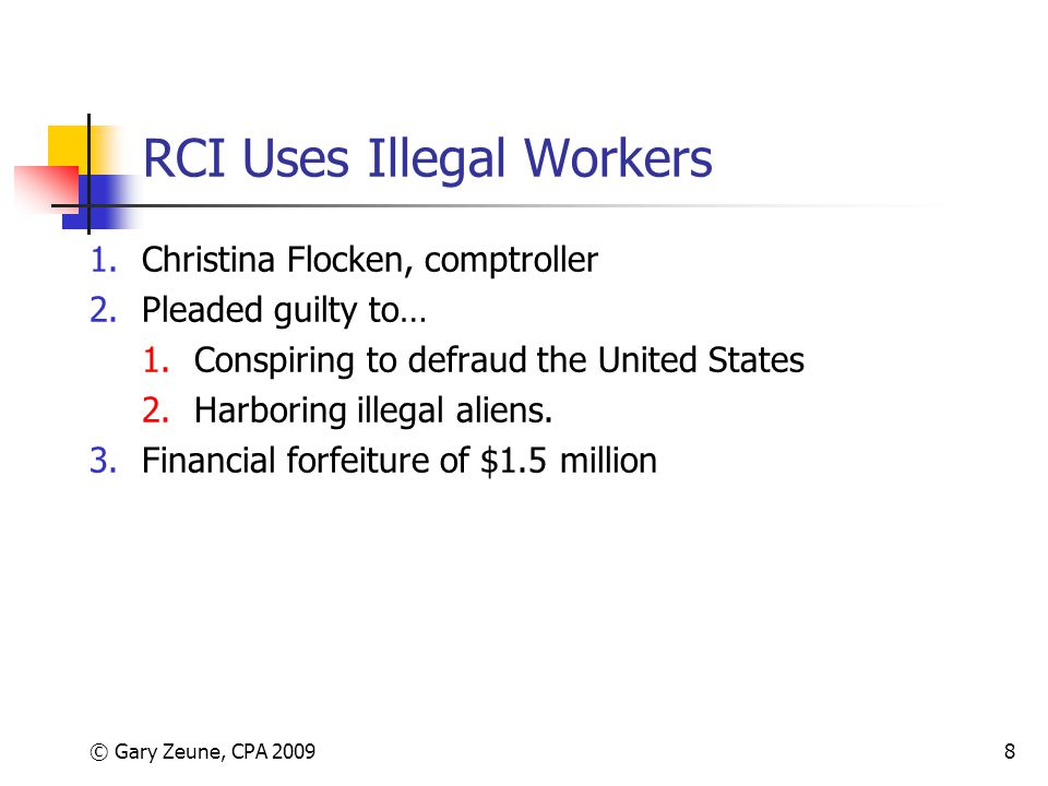 RCI Uses Illegal Workers