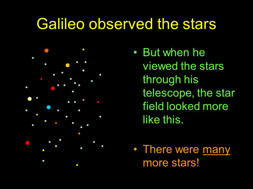 Galileo observed the stars