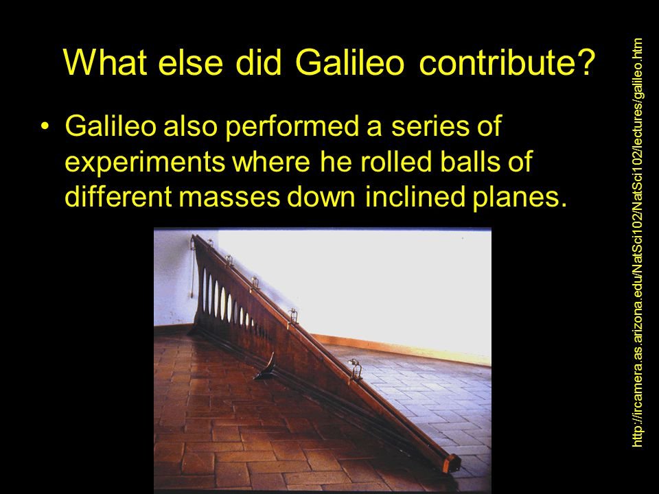 What else did Galileo contribute