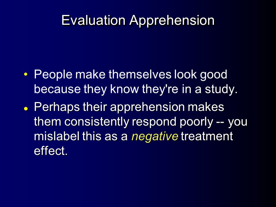 Evaluation Apprehension