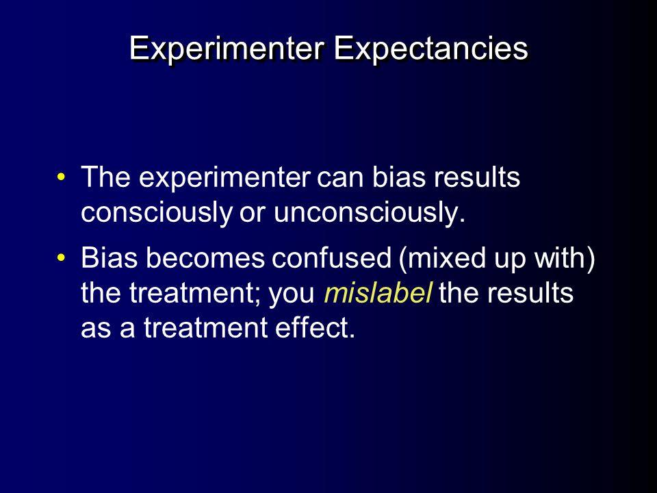 Experimenter Expectancies