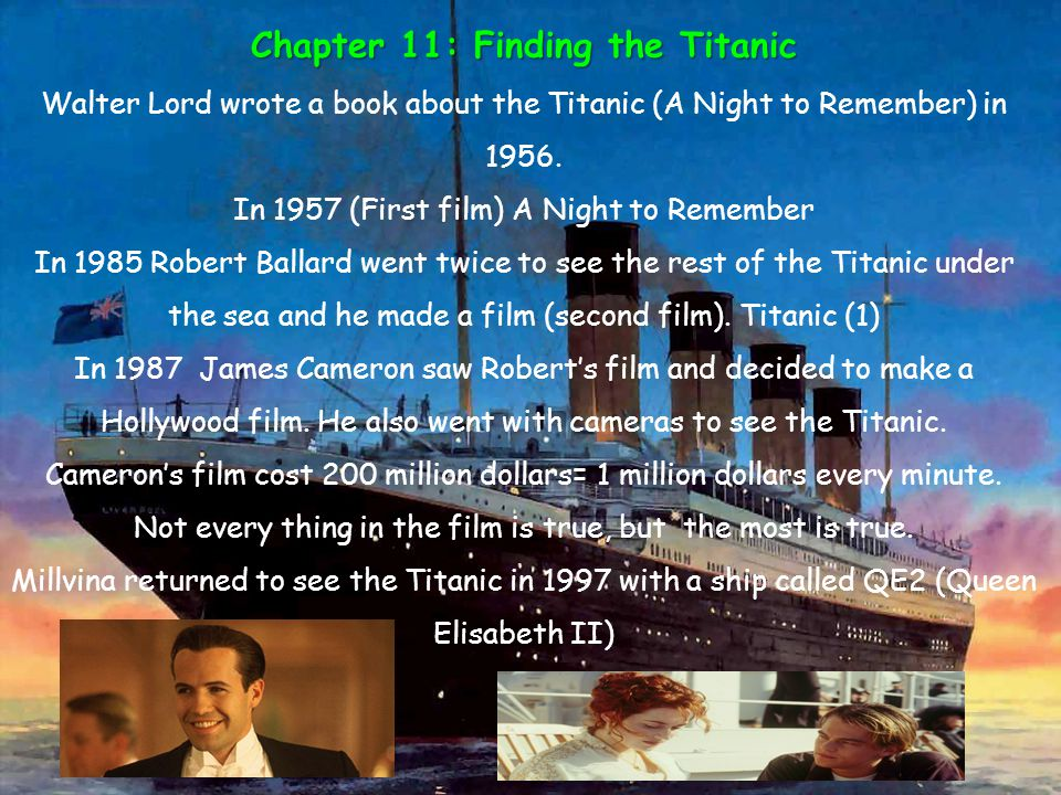 Chapter 11: Finding the Titanic