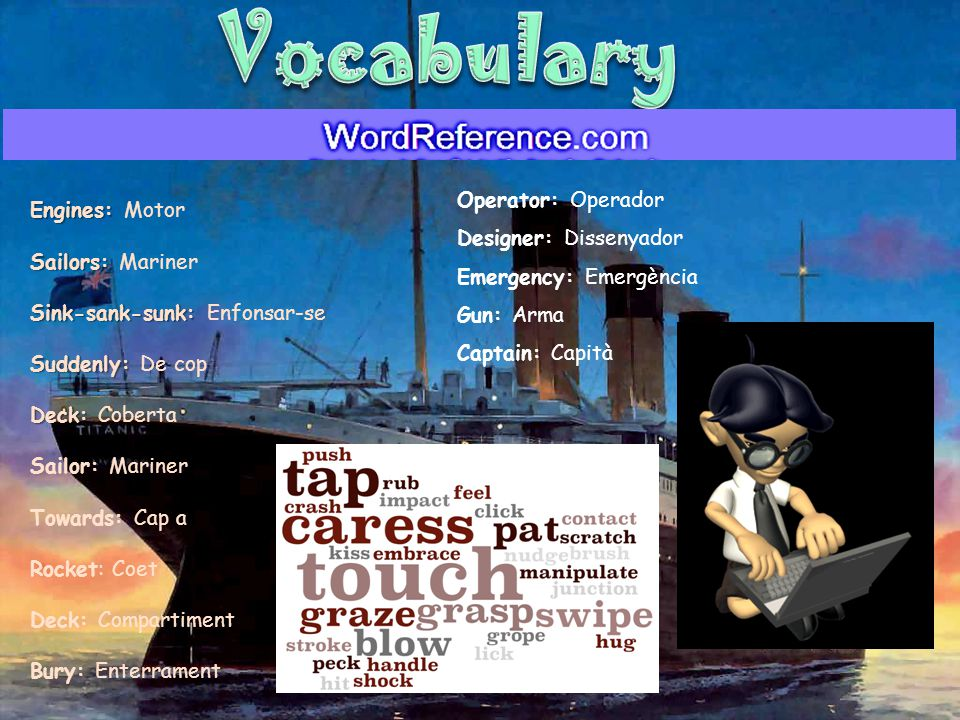 Vocabulary Engines: Motor Operator: Operador Designer: Dissenyador