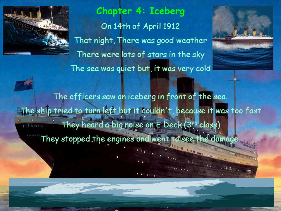 Chapter 4: Iceberg On 14th of April 1912