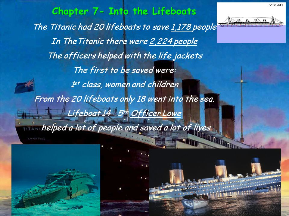 Chapter 7- Into the Lifeboats