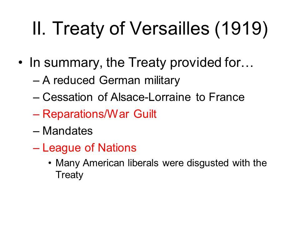 II. Treaty of Versailles (1919)
