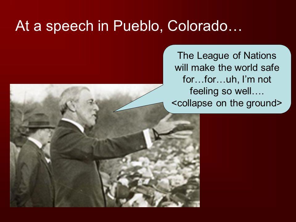 At a speech in Pueblo, Colorado…