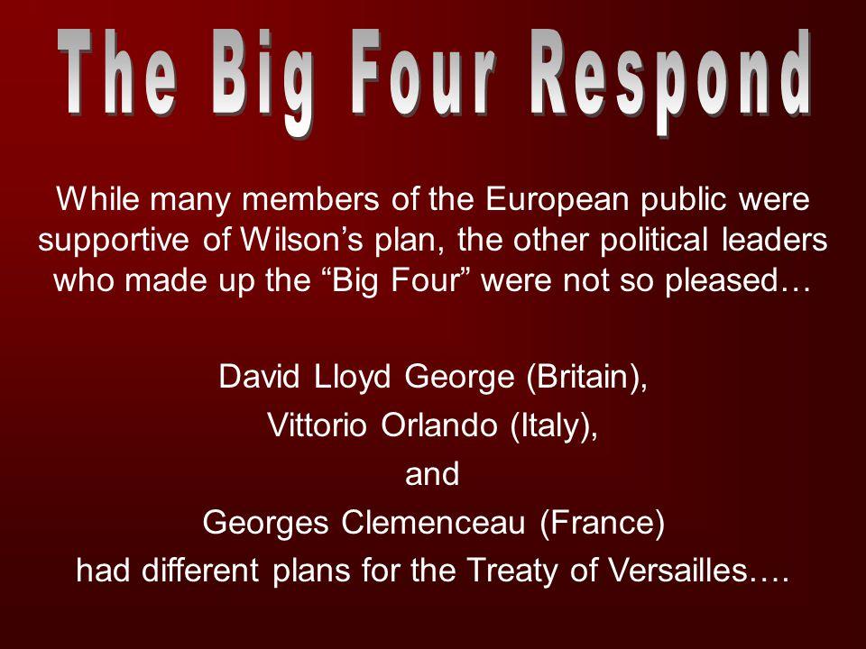 The Big Four Respond