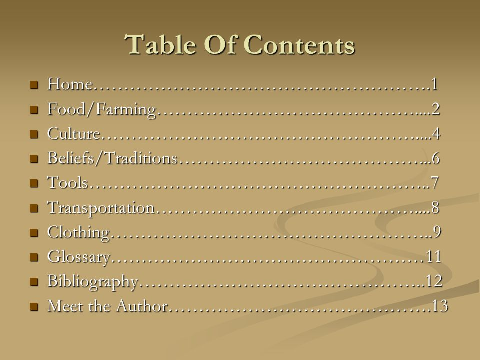 Table Of Contents Home……………………………………………….1