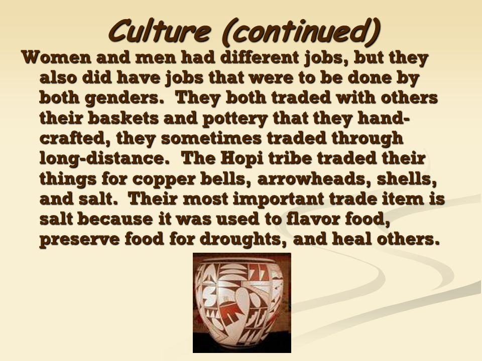 Culture (continued)