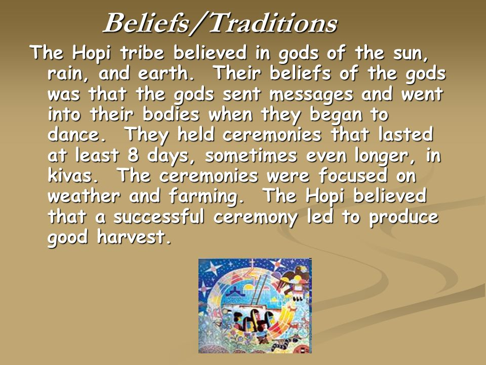 Beliefs/Traditions