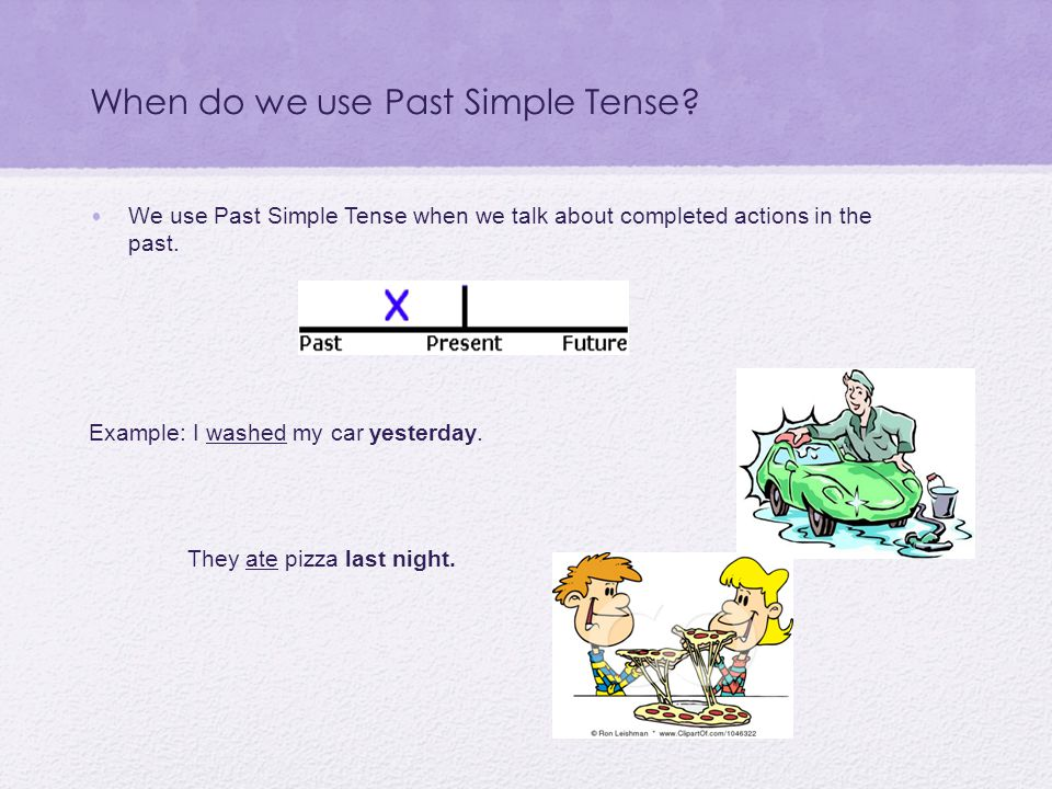 When do we use Past Simple Tense