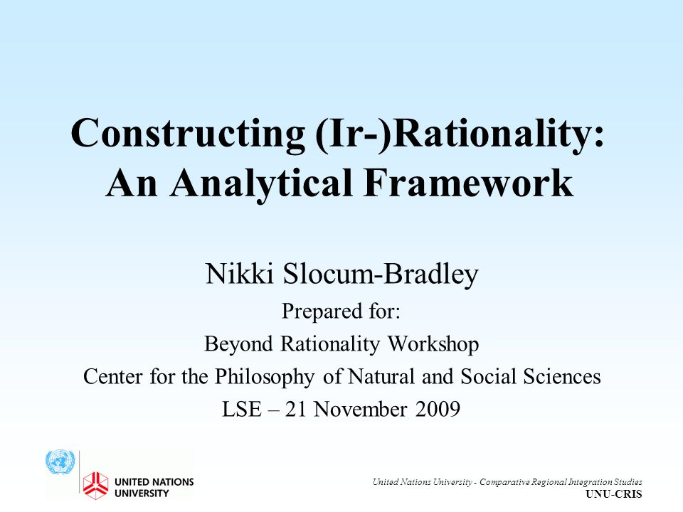 Constructing (Ir-)Rationality: An Analytical Framework