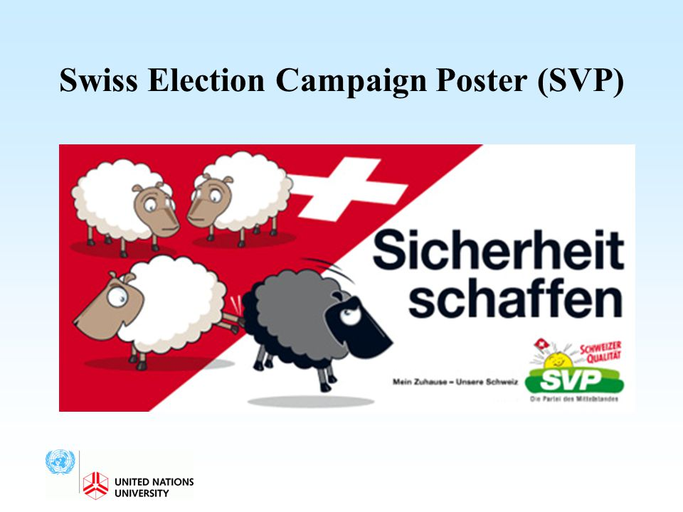 Swiss Election Campaign Poster (SVP)