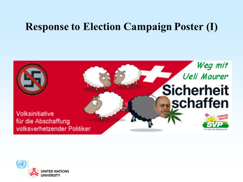 Response to Election Campaign Poster (I)
