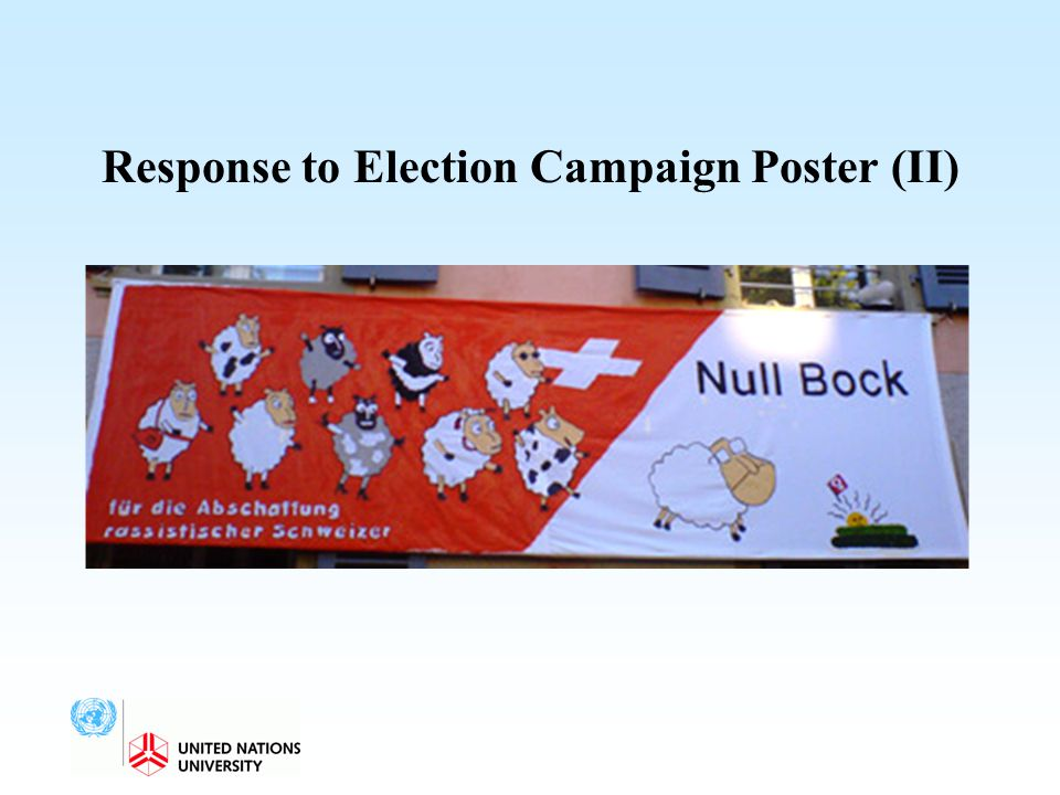 Response to Election Campaign Poster (II)