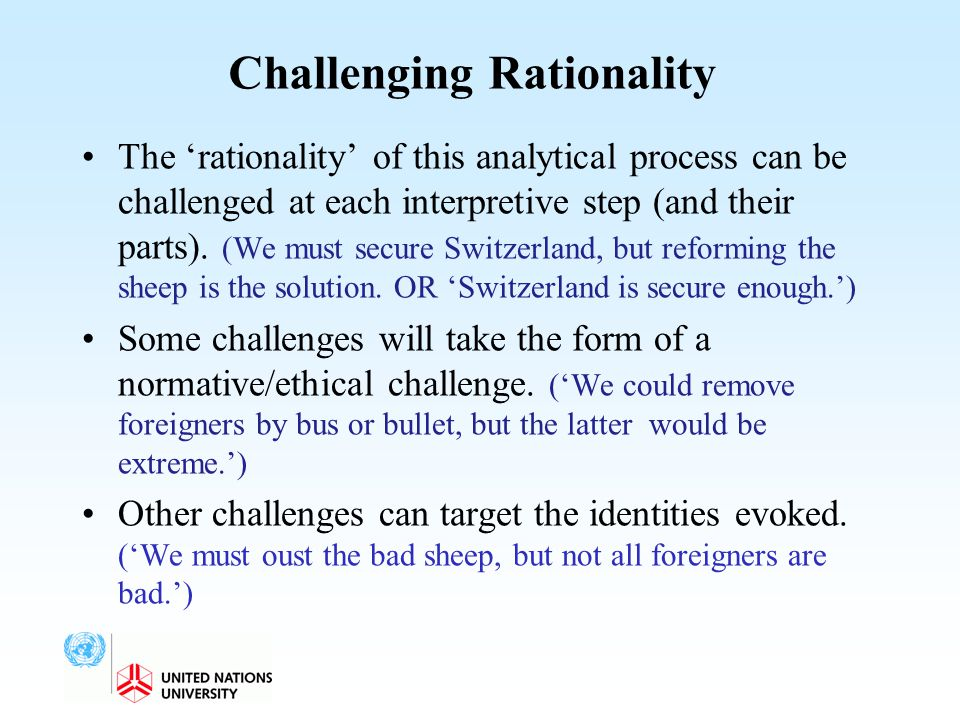 Challenging Rationality