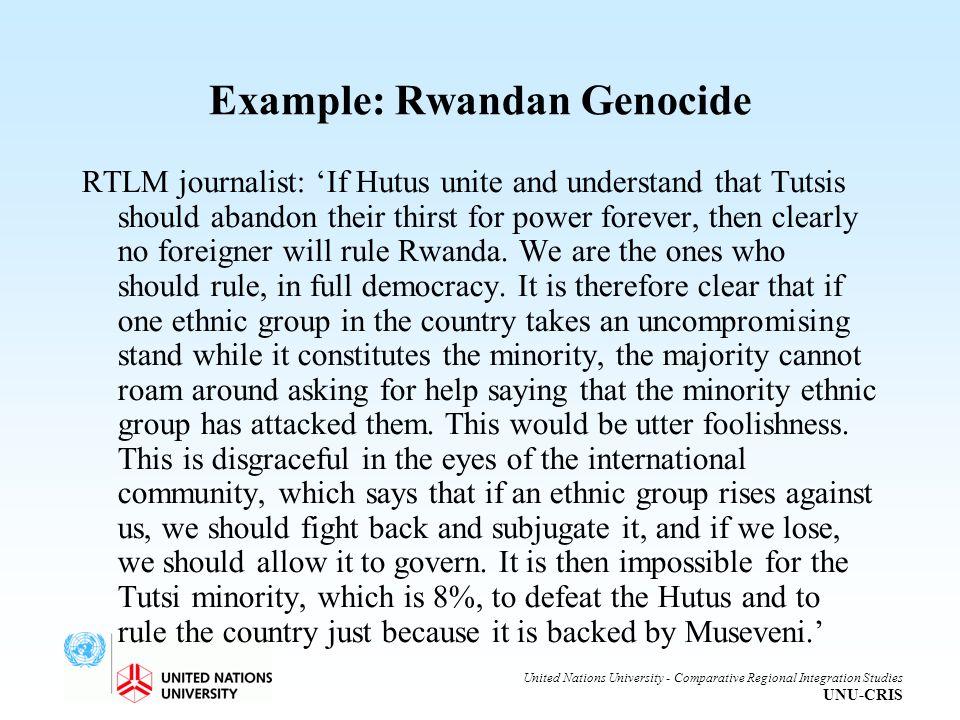 Example: Rwandan Genocide
