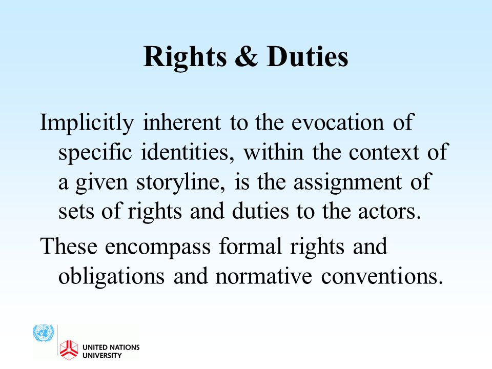 Rights & Duties