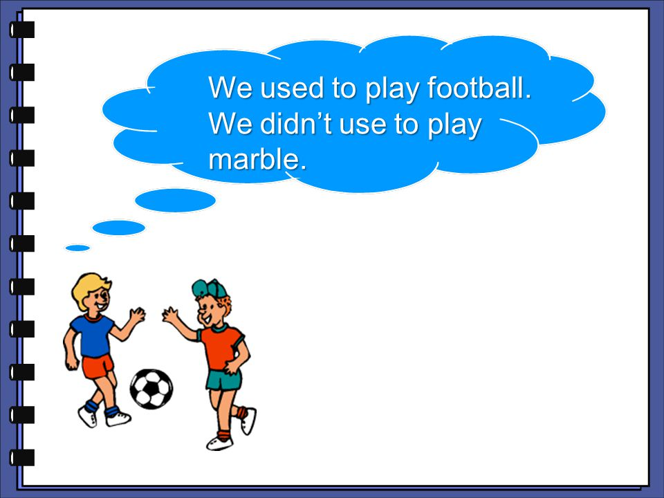 We used to play football.