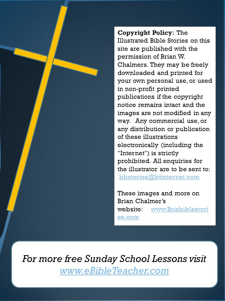 For more free Sunday School Lessons visit