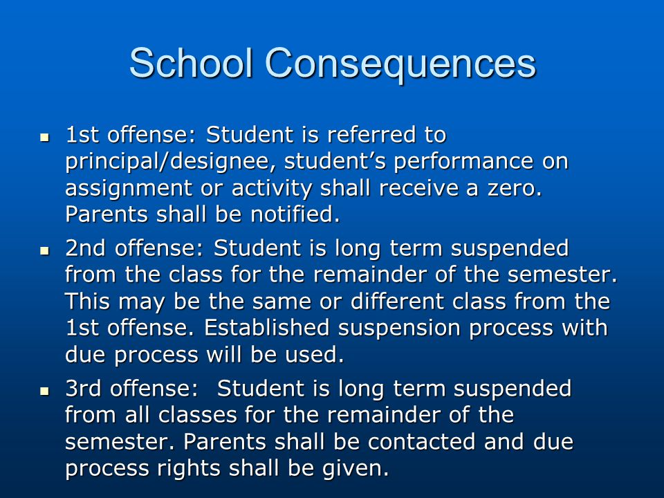 School Consequences