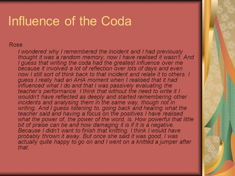 Influence of the Coda Rose