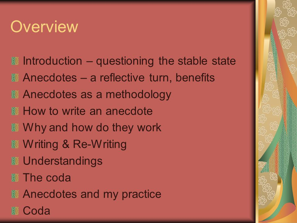 Overview Introduction – questioning the stable state