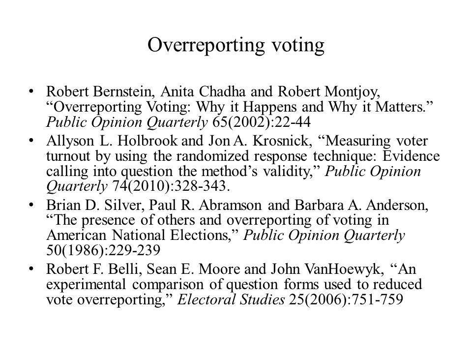 Overreporting voting