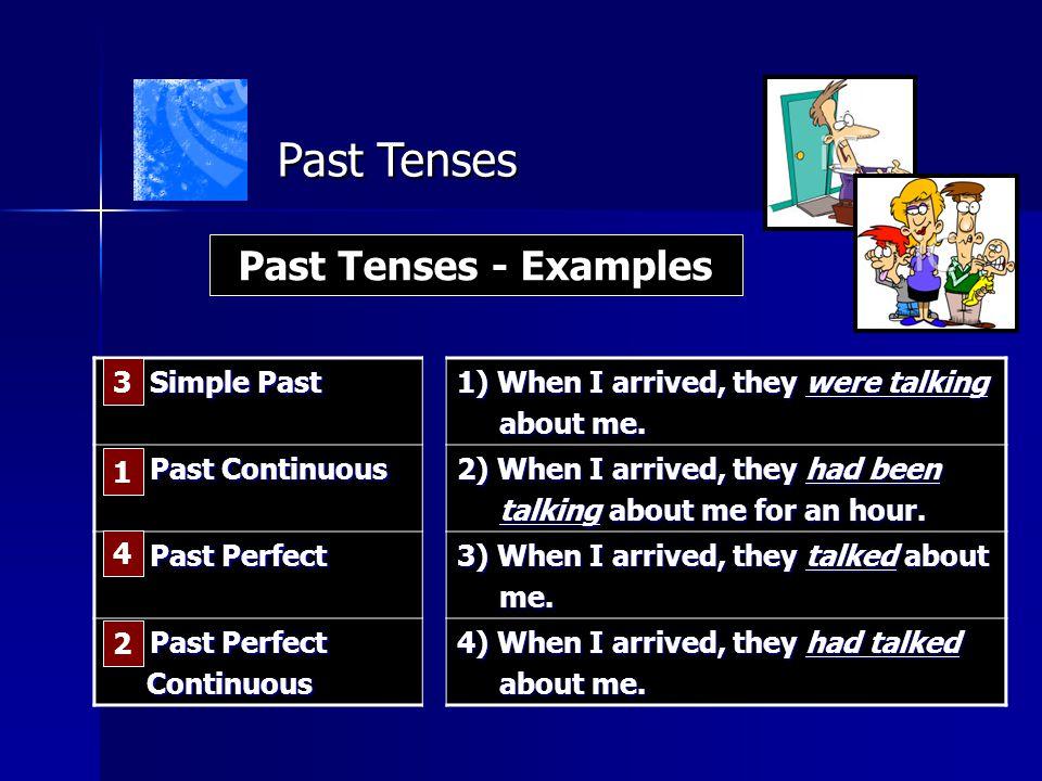 Past Tenses Past Tenses - Examples __ Simple Past
