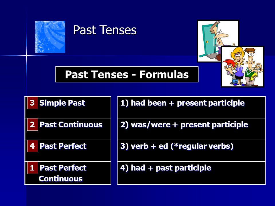 Past Tenses Past Tenses - Formulas __ Simple Past