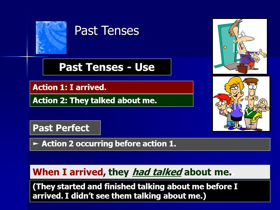 Past Tenses Past Tenses - Use Past Perfect
