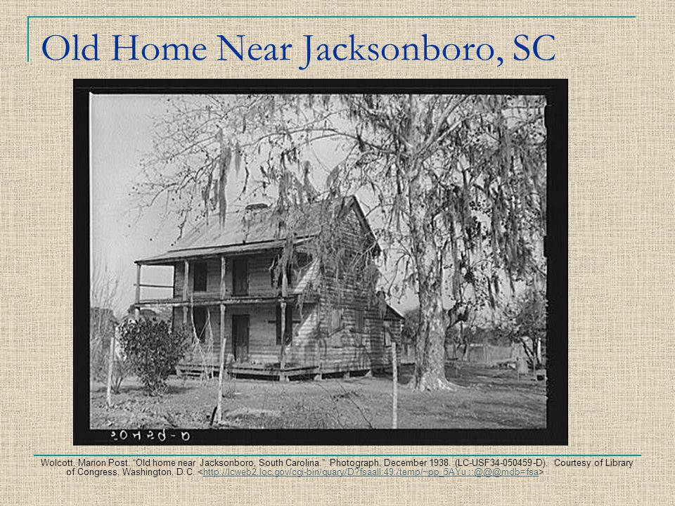 Old Home Near Jacksonboro, SC