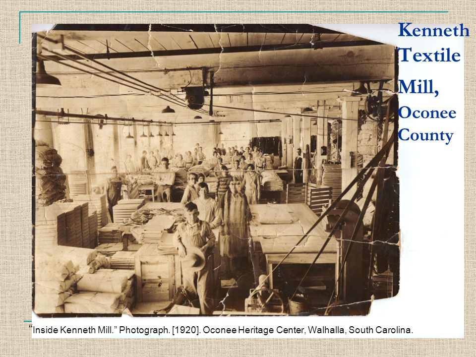 Kenneth Textile Mill, Oconee County