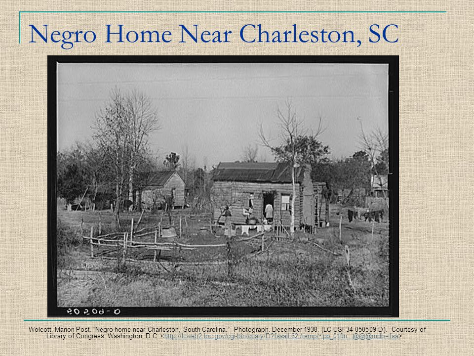 Negro Home Near Charleston, SC