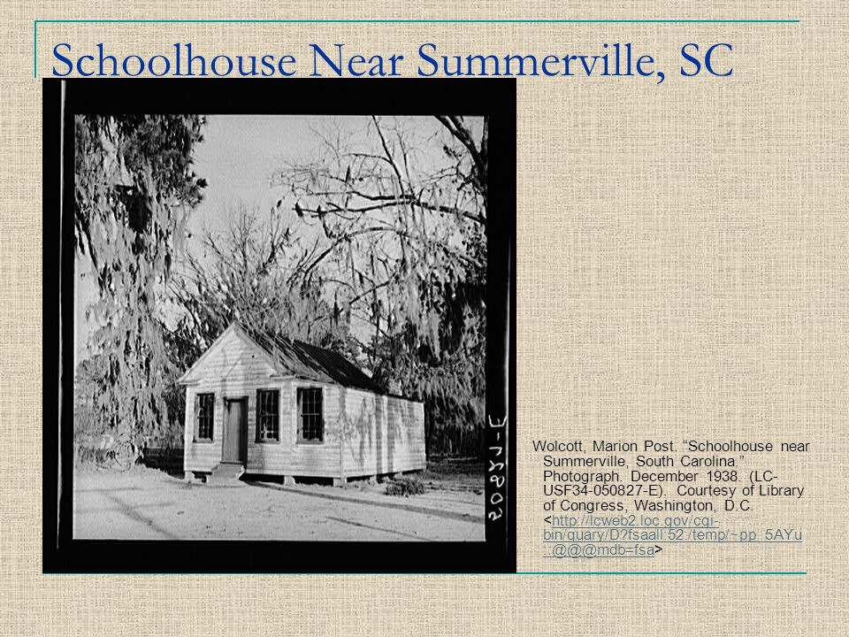 Schoolhouse Near Summerville, SC