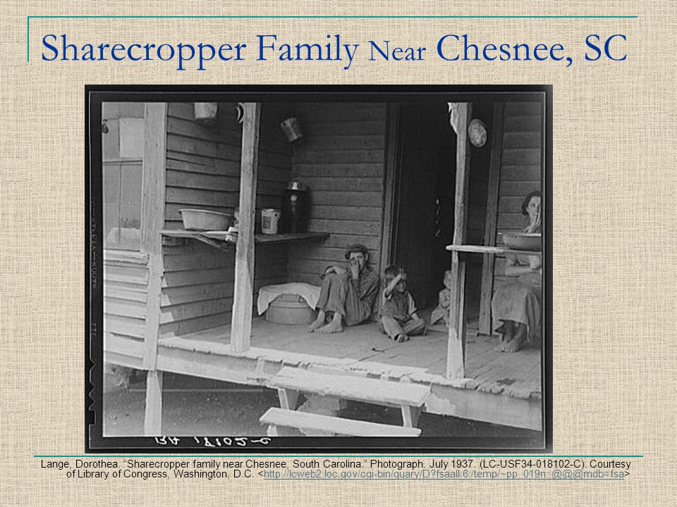 Sharecropper Family Near Chesnee, SC