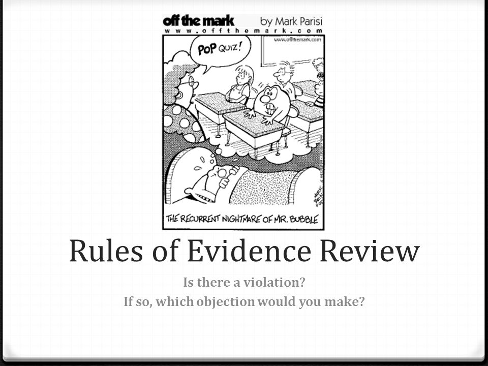 Rules of Evidence Review