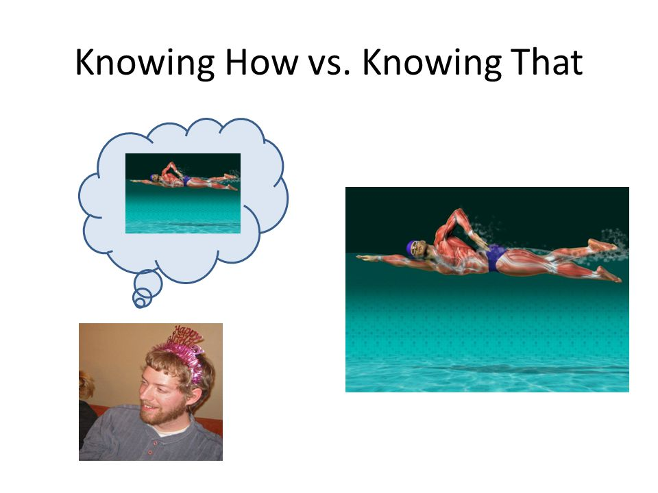 Knowing How vs. Knowing That